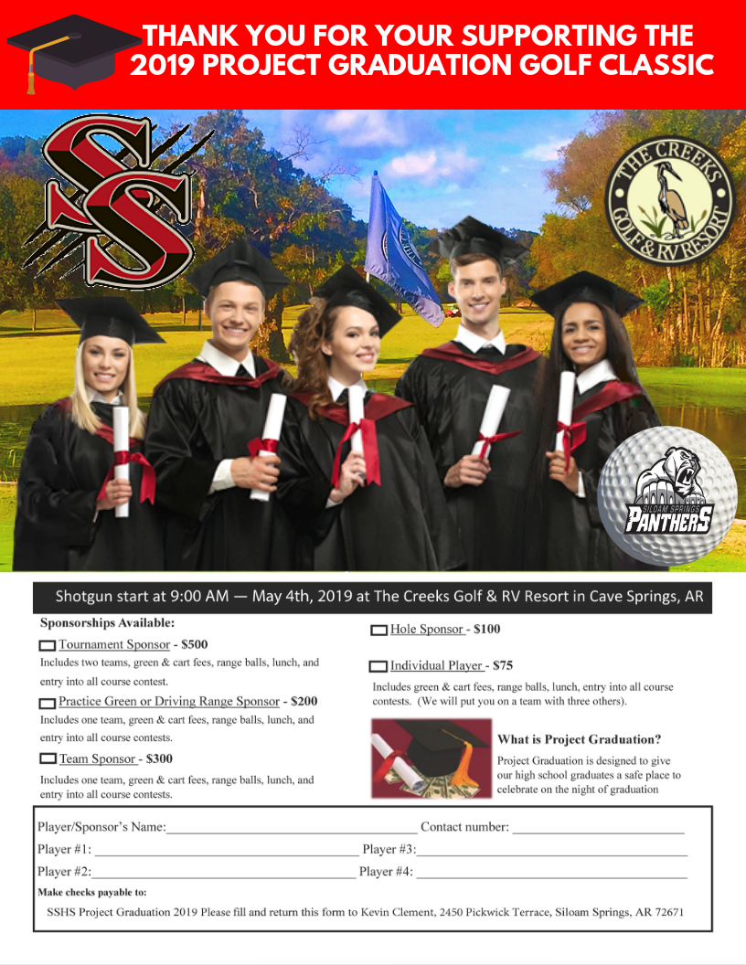 ecf60673 Support Siloam Springs High School with the Project Graduation Golf ...
